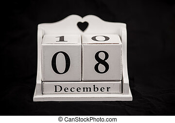 Calendar cubes december, eighth, 8, 8th - Calendar cubes...