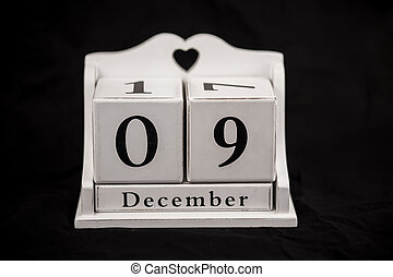 Calendar cubes december, ninth, 9, 9th - Calendar cubes...