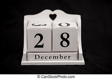 Calendar cubes december, twenty-eighth, 28, 28th - Calendar...