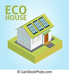 Green House vector concept