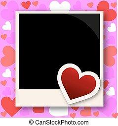 foto, marco, con, amor,