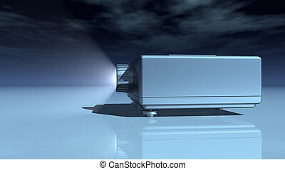 Slide projector - Computer generated 3D illustration with a...