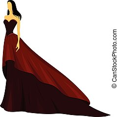 red even gown