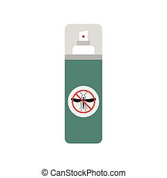 Mosquito spray flat icon isolated on white background