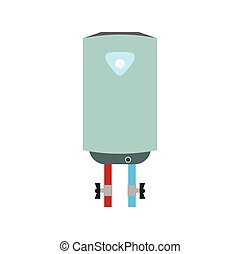 Boiler flat icon isolated on white background