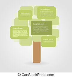 Abstract ecology infographic, vector illustration