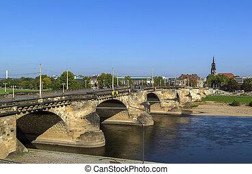 Augustus Bridge, Dresden, Germany - The Augustus Bridge is...