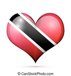 Trinidad and Tobago Heart flag icon - Love Trinidad and...