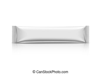blank packaging stick pouch isolated on white background