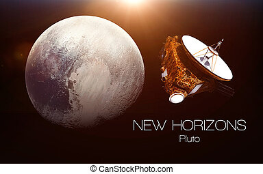 Pluto - New horizons spacecraft. This image elements...