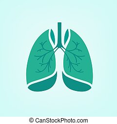 Vector Lungs Icon - Beautiful vector illustration of medical...