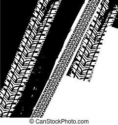 Grunge Tire Background