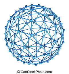 Abstract sphere 3d rendering - Abstract sphere isolated on a...