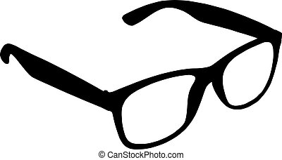Eye glasses on white background for your design