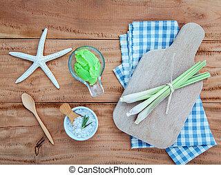 Alternative skin care lemongrass scrubs ,Fresh lemongrass...