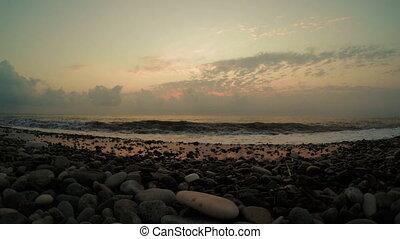 Sea sunset evening