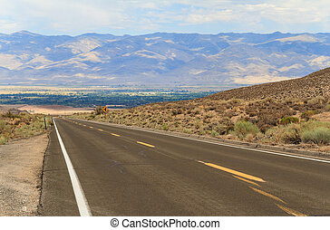 Road in Inyo National Forest Park, California, USA