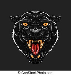 Angry Black Panther Face - An angry Black Panther Face....
