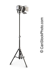 Studio lighting isolated on white background. 3d. - Studio...
