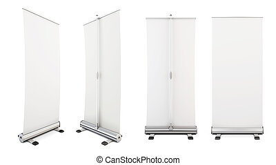 Four roll-up from different angles. Rollup for your design....