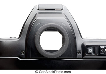 viewfinder - closeup viewfinder of vintage film camera