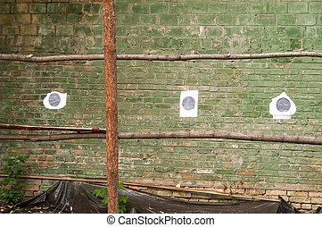 target shooting wall