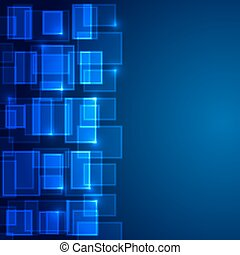 Blue business background Square
