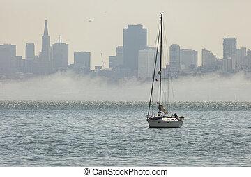 San Francisco downtown cityscape, California, USA