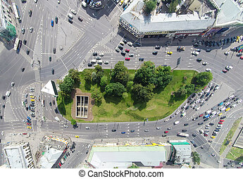 Taganskaya intersection - Aerial view one of the most...