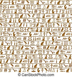 Egyptian seamless hieroglyphs patte