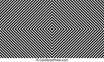 Abstract lines in white and black
