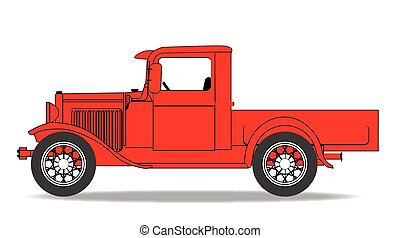 Early Pickup Truck - An early old fashioned pickup truck...