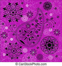 India ornament background. Paisley seamless