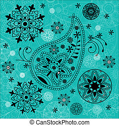 India ornament background Paisley seamless