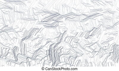 Hand drawn camouflage background - Random animated crayon...