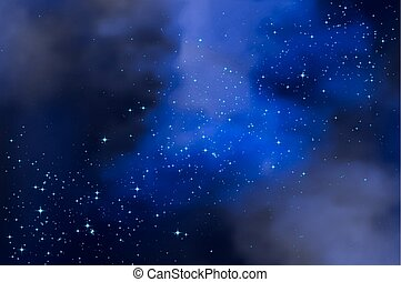 cloudy starry night sky