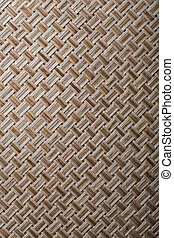 Woven crisscross place matting vertical version