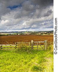 Cotswold Landscape, Gloucestershire, England - View across...
