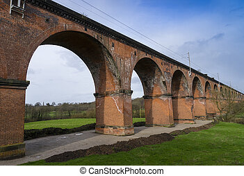 Twemlow railway viaduct, Cheshire, UK, near Holmes Chapel...