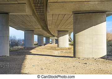 Flyover viewed from below - Road flyover viewed from below