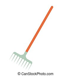 Rake flat icon isolated on white background