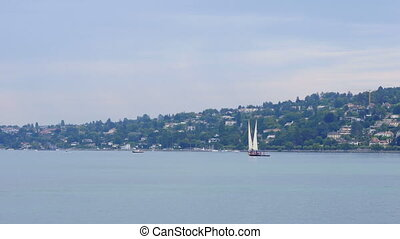 """sailing at geneva lake, switzerland"""