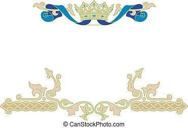 Ornamental frame with crown