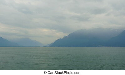 """geneva lake and alps view, france and swiss border..."