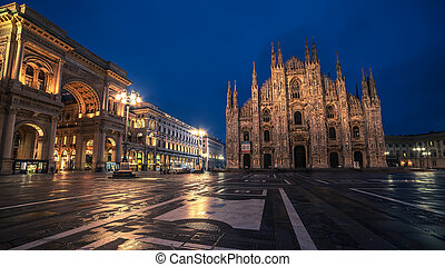Milan, Italy: Piazza del Duomo, Cathedral Square in the...