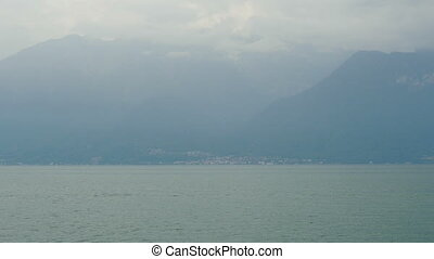 quot;geneva lake and alps view, france and swiss border...