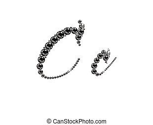 Cc Onyx Script Jeweled Font - Cc in stunning Onyx Script...