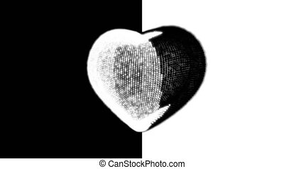Black and Whiet Heart.