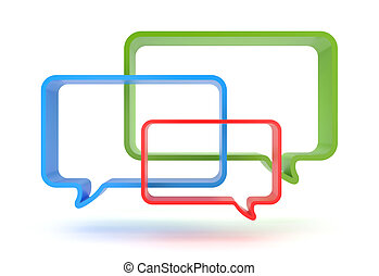 Speech bubbles - Image contain clipping path