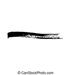 Vector grunge brush stroke ink. Black and white. Abstract...